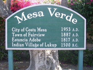 Costa Mesa Historical Marker