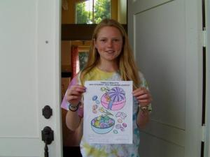 Costa Mesa Real Estate Coloring Contest Winner